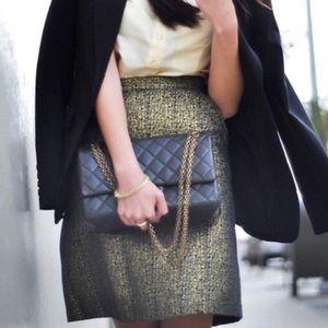 Gold metallic pencil skirt // Tucker for Target